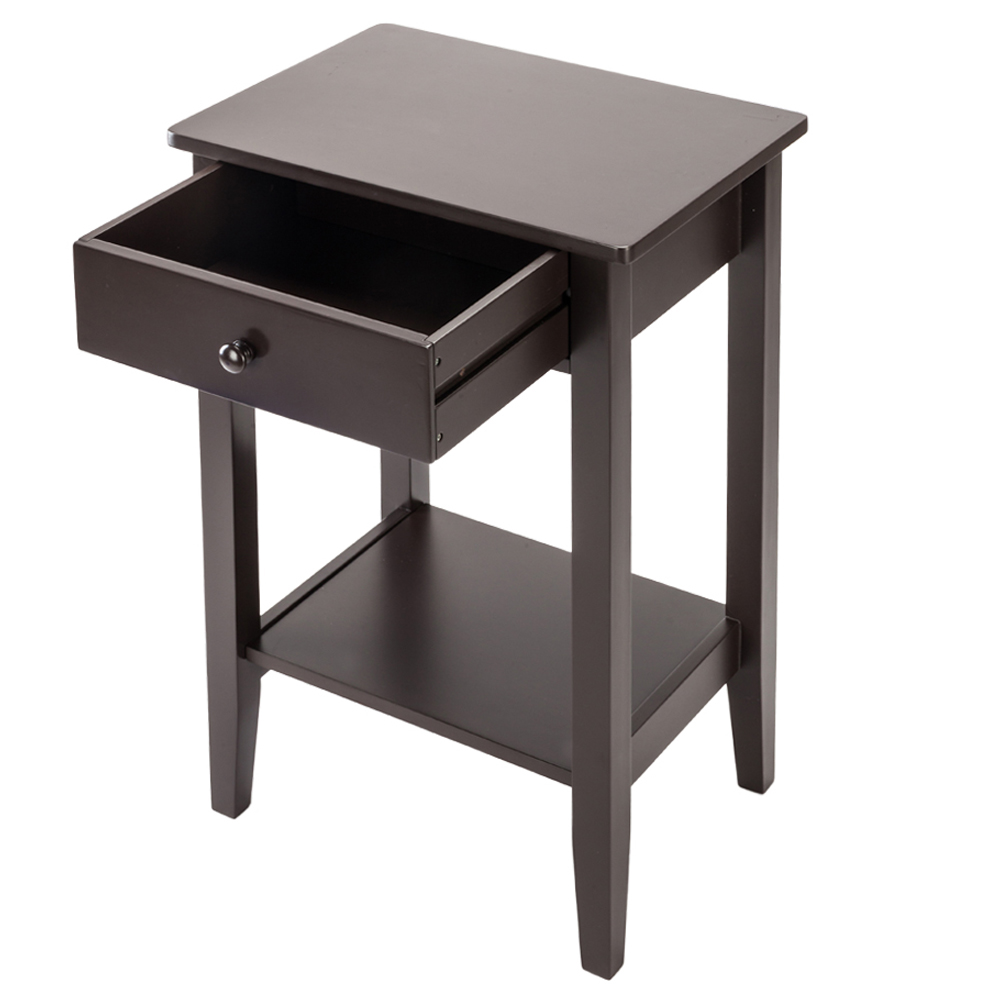Bedroom Bedside Cabinet  Fashion Two-layer Bedside Table High Quality Coffee Table With Drawer For Home Indoor  Furniture Decor