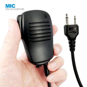 2Pin PTT mikrofon głośnikowy dla ICOM IC-V8 IC-V82 IC-F3 SL25 V80 Cobra Vertex VX-200 Walkie Talkie Two Way Radio tanie i dobre opinie fartalk CN (pochodzenie) 2Pin PTT Speaker Mic Microphone for ICOM V80 for ICOM IC-V8 IC-V82 IC-F3 SL25 V80 Cobra Vertex VX-200