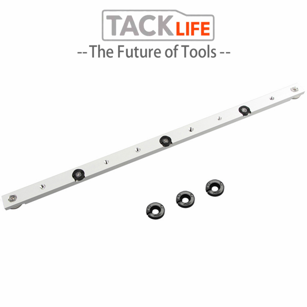 Silver Metal Pusher Hardware T Slot Slider T Tracks Durable Woodworking Beveled Track Miter Tool Bar Limit Chute Portable