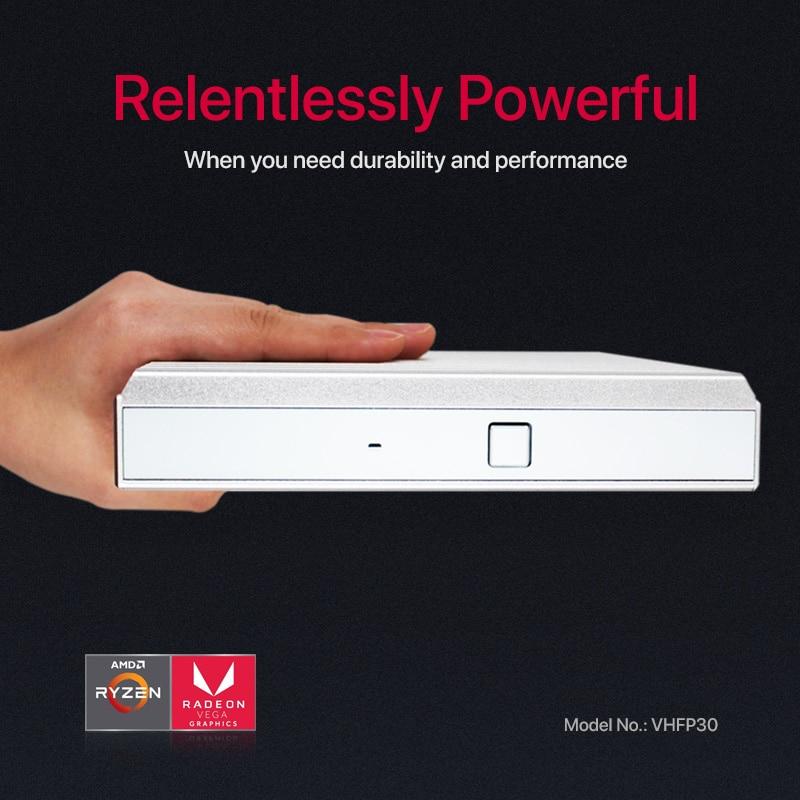 AMD 2500U Mini PC Quad Core Windows 10  Fanless Minipc 2*LAN 6*USB HDMI