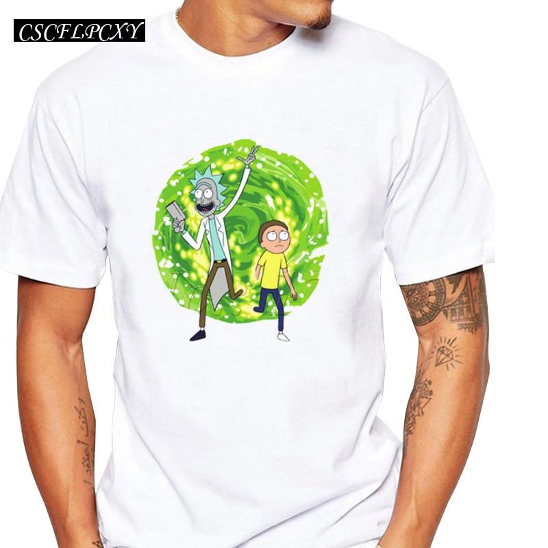 Wubba Lubba Dub, Camiseta con estampado de dibujos animados para hombre, Camiseta básica informal de manga corta para hombre, camiseta hipster divertida de aventura 2019
