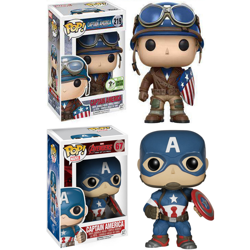 FUNKO Pop Captain America Soldier Marvel Avengers Movie Vinyl Doll KeyChain Collection Action Figure Toys For Kids Birthday Gift