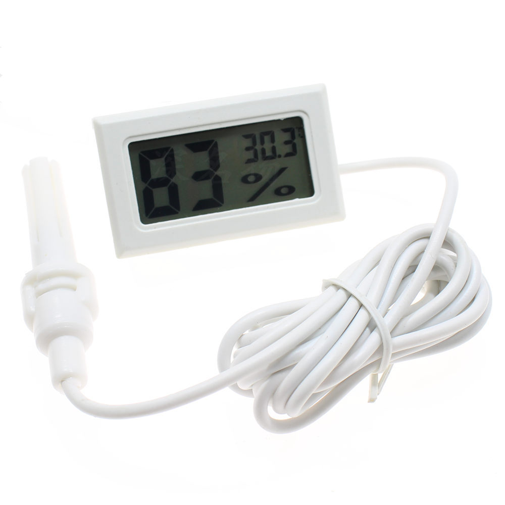 Beekeeping Beehive Mini Convenient Digital LCD Hygrometer Thermometer with Sensor Monitoring Display Humidity Detector