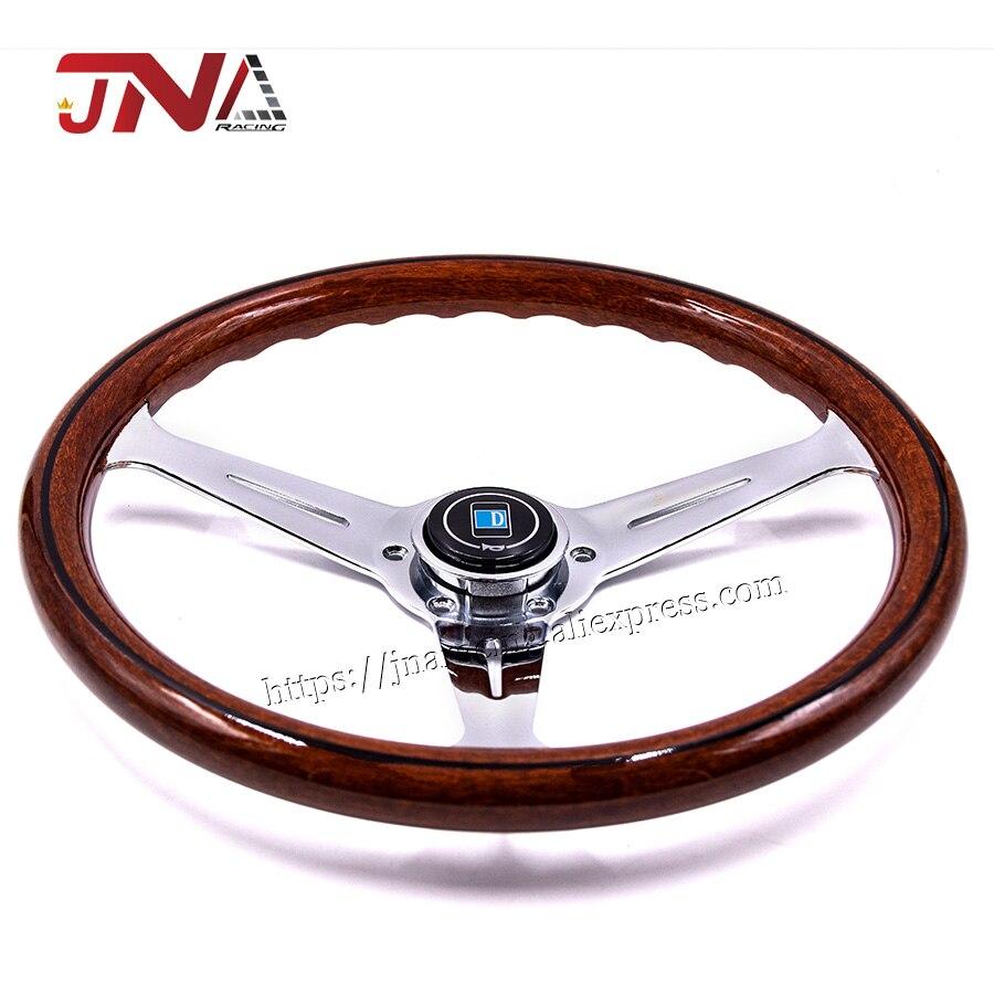 Volante de coche Drifting volante copia de madera deportes giratorio
