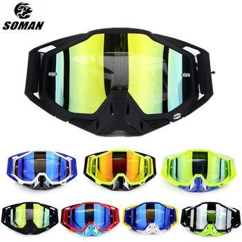 SOMAN Motocross Goggles Dirt Bike Helmet Goggle Glasses Oculos Motorcycle Googles Lunette