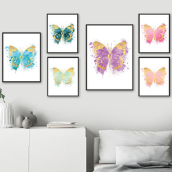 Watercolor Papilio King Butterfly Insect Wall Art Canvas Painting Nordic Posters And Prints Wall Pictures For Living Room Decor