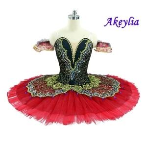 Image 5 - Preto cisne clássico ballet tutu ballet traje adulto vermelho profissional ballet tutu preto ballet tutus ponto dança desempenho