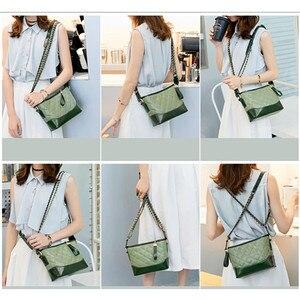 Image 5 - Kadınlar için hakiki deri çanta 2019 lüks markalar tasarımcı çantaları zincirleri Crossbody çanta bayanlar debriyaj gövdesi omuzdan askili çanta