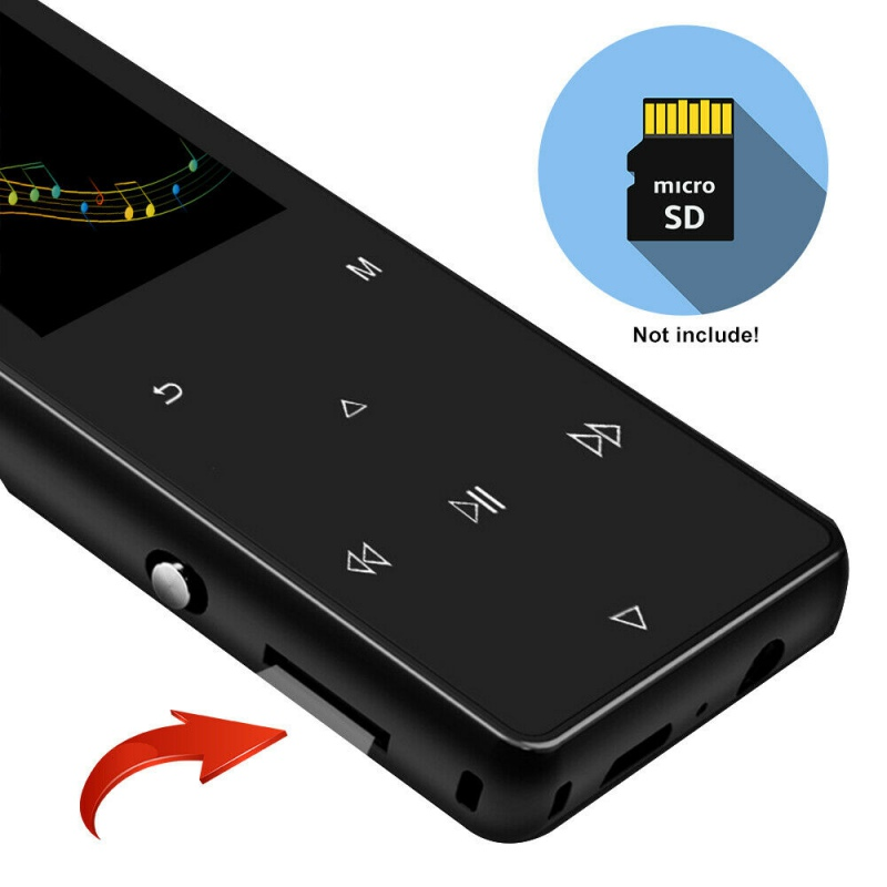 New MP3 Player With Bluetooth Speaker Built-in 8GB 16G HiFi Portable Walkman With Radio /FM/ E-Book Recording Audio MP3 Player
