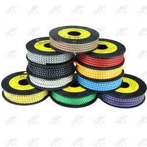 500 sztuk EC-2 kabel drutu Marker 0 do 9 dla kabla rozmiar 4 sqmm kolorowe EC-2