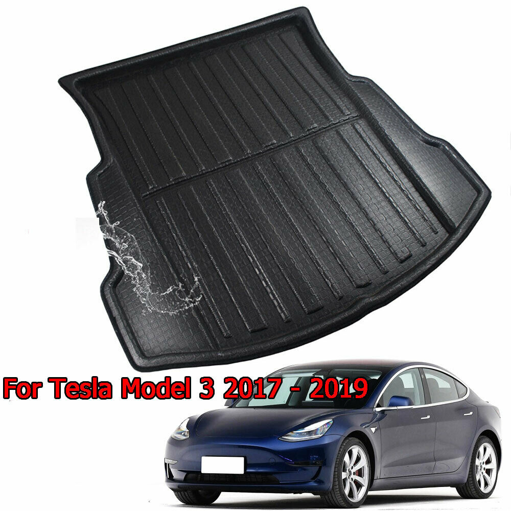 Car Rear Trunk Cargo Mat Liner Tray Floor Boot Carpet For Tesla Model 3 2017-2019