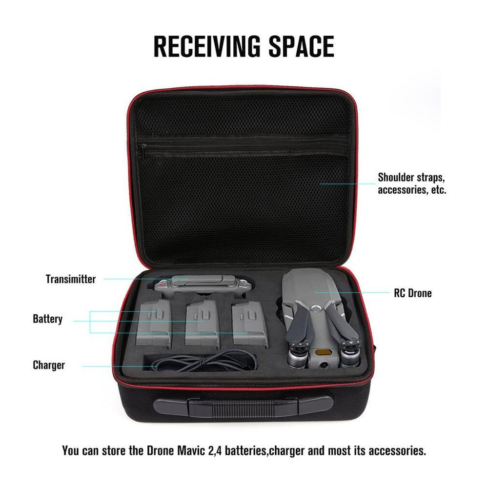 Image 5 - For Mavic 2 Carrying Case Hard Shell Storage Bag+8743 Low Noise Propeller+Drone Parking Apron Waterproof Pad For DJI Mavic 2 ProDrone Bags   -