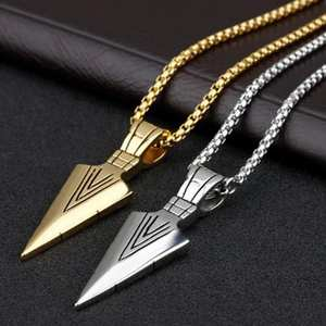 Pendant Necklace Jewelry Gift Arrow-Head Long-Chain Street-Party Fashion Men
