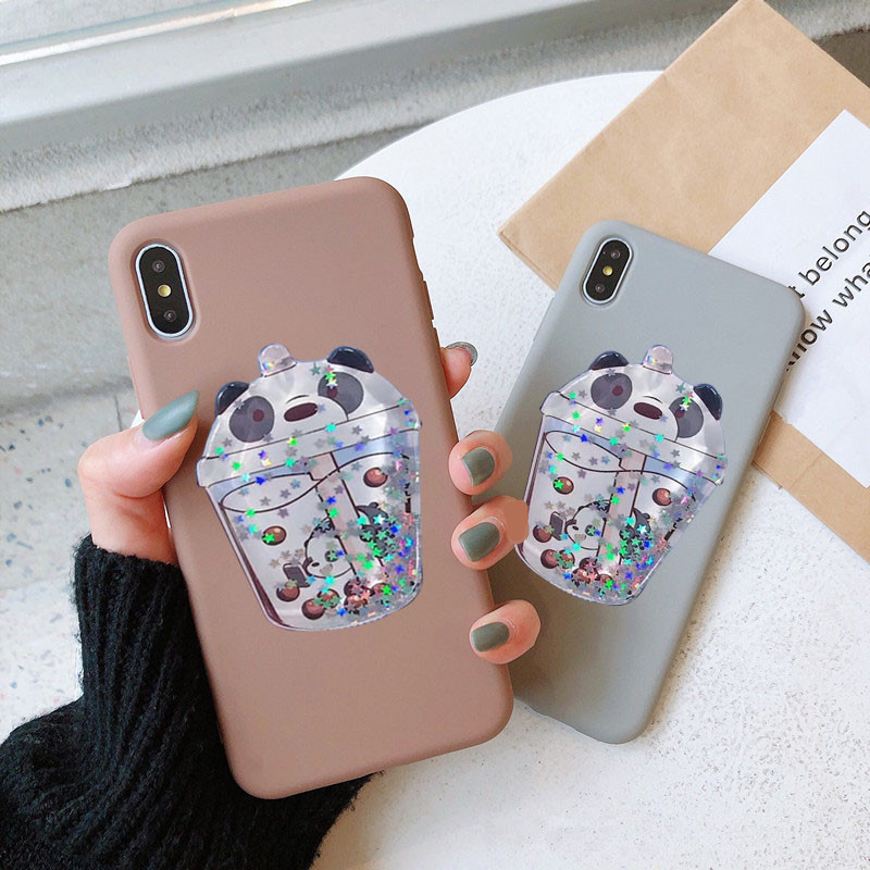 <font><b>3D</b></font> Cute Cartoon Glitter quicksand Case For <font><b>Samsung</b></font> Galaxy note 10 Plus S7 edge S10 5G j3 <font><b>j5</b></font> j7 <font><b>2017</b></font> j530 A60 M30 A40S case cover image