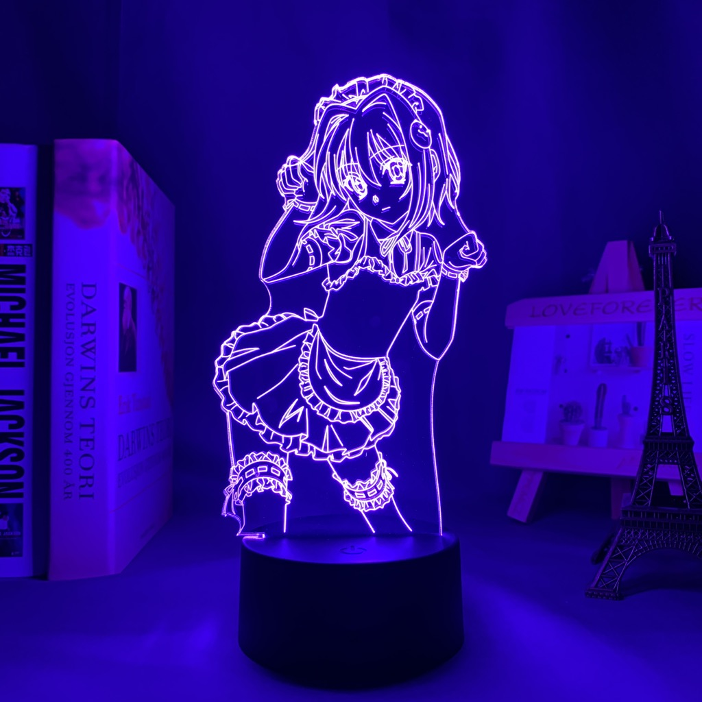 Haa5bab28f5204d98aa90d2b852252767b Luminária Dxd koneko toujou led night light para decoração do quarto nightlight presente de aniversário anime 3d lâmpada koneko toujou high school dxd