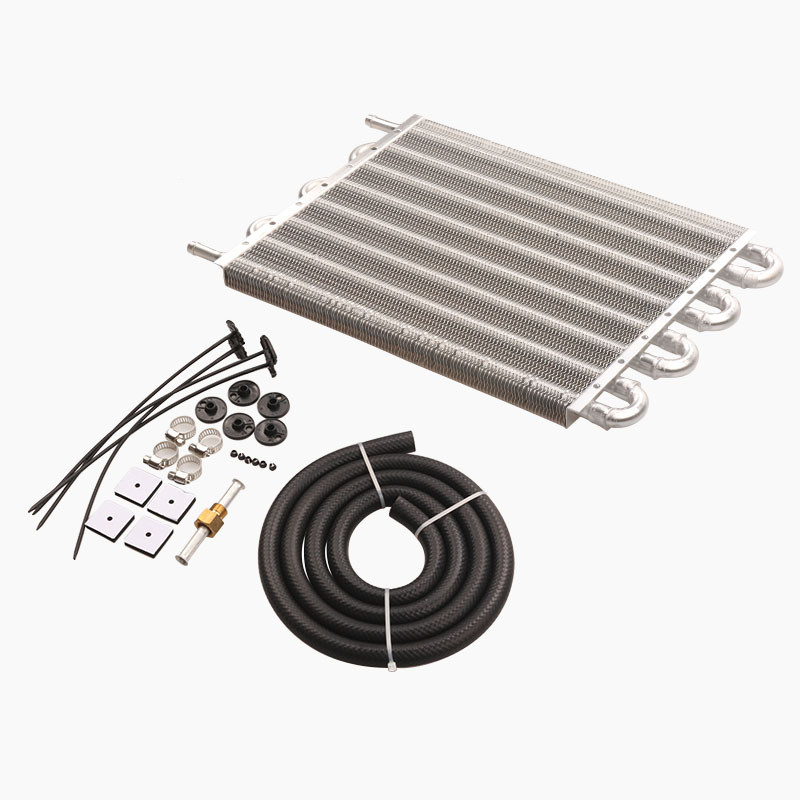 8 Row Car Air Conditioning Tube Belt Condenser Car Modification Universal Accessories Transmission Oil Cooler Kit