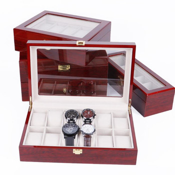 2/3/5/6/10/12 Grids Wooden Watch Box Jewelry Box Display Watch Case Holder Organizer for Watches Men  Valentine's Day Gift 1