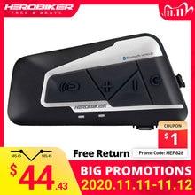 HEROBIKER 1200M Bluetooth אינטרקום אופנוע קסדת האינטרפון אוזניות עמיד למים אלחוטי Bluetooth Moto אוזניות האינטרפון