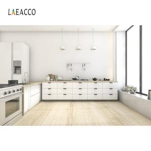 Image 4 - Laeacco Moderne Keuken Photophone Potplanten Kast Kookplaat Fotografie Achtergronden Interieur Decor Foto Achtergronden Photozone