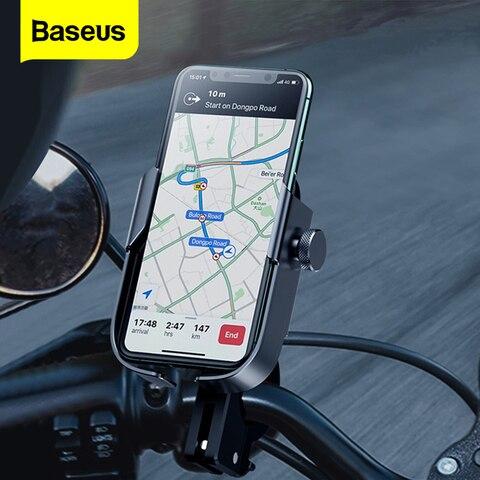 baseus motorcyle titular do telefone da bicicleta suporte do telefone movel para o iphone samsung