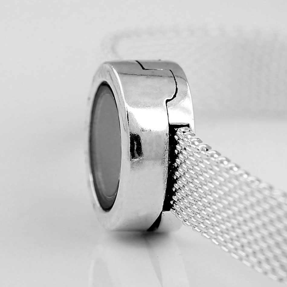 Oryginalny Reflexions Logo medalion klip korek blokady koraliki Fit 925 srebrny koralik Charm bransoletka pandora bransoletka biżuteria zrób to sam