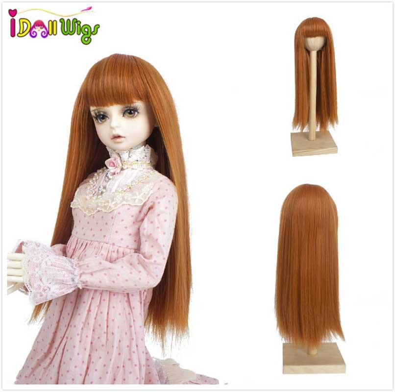 "1//8 Girl BJD SD Doll Wig Long Dollfie 5 /""Bjd Doll Wig Long Curly Coffee Free"