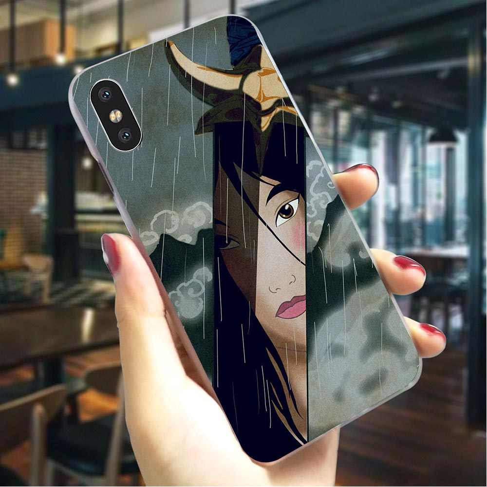 Funda dura Mulan Anime para iPhone X ultrafina para iPhone Xs Max XR 5 5S se 6 fundas traseras 6s plus 7 8 X