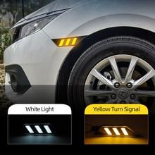 Auto Knipperende 2 Stuks Voor Honda Civic 2016 2017 2018 2019 2020 Auto Side Marker Signal Lights Marker Lamp Led drl Lampen