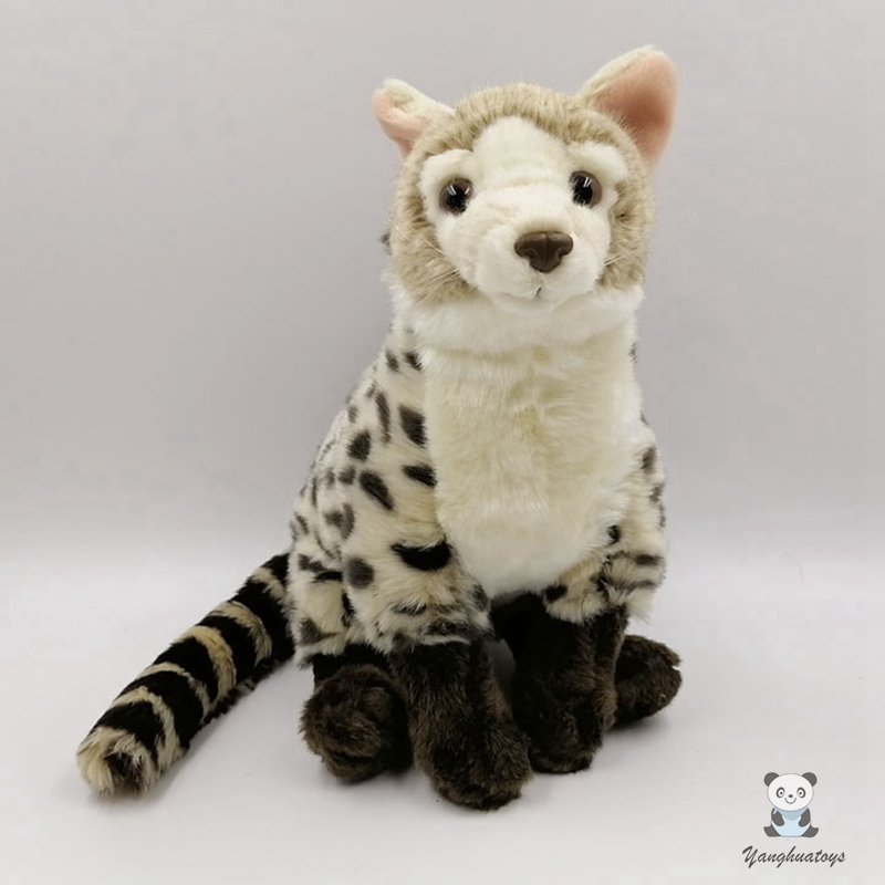 Real life wild plush Small Chinese Civet doll toys stuffed family Viverridae toy children soft model birthday gifts