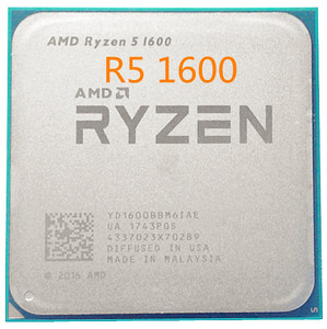 Image 1 - AMD Ryzen 5 1600 R5 1600 3.2 GHz 6 Core 12 Thread 65W CPU โปรเซสเซอร์ YD1600BBM6IAE ซ็อกเก็ต AM4