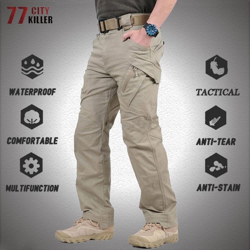 Брюки мужские тактические, боевые армейские штаны спецназа, много карманов, в стиле милитари, водонепроницаемые износостойкие, штаны-карго,...