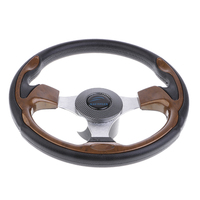 Marine Boat 12.6'' 320mm Steering Wheel W/ 3/4'' Tapered Key Adapter 3 Spoke Non directional|Marine Hardware|Automobiles & Motorcycles -