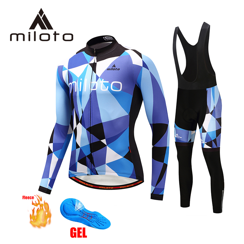 MILOTO winter thermal fleece cycling Sets maillot ciclismo mountain bike clothing 2019 racing bicycle outdoor triathlon suit|Cycling Sets| |  - title=