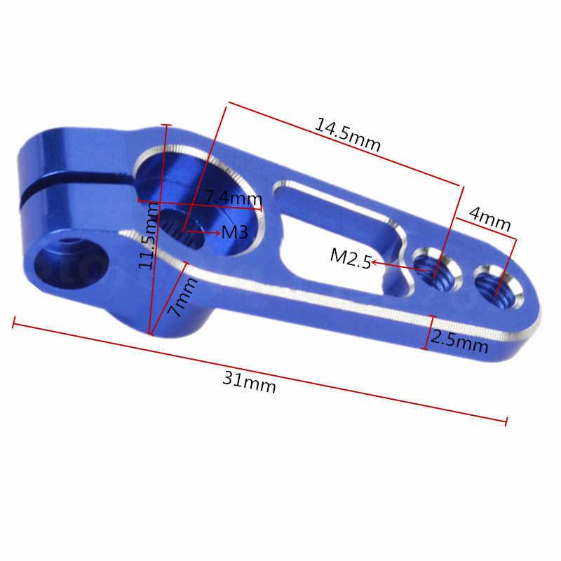 Ze stopu aluminium ze stopu aluminium 25T serwo róg ramiona 31mm dla 1/10 TRX4 Sakura D4 RC samochody Drift gąsienicowe uniwersalne akcesoria części