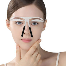 Reusable 3D Eyebrow Shaper Stencil DIY Stainless Steel Eye brow Ruler Permanent Makeup Measure Shaping Balance Guide Tool Beauty