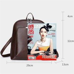 Image 3 - 3 in 1 Vintage Women Backpack High Quality Youth Leather Backpacks for Teenage Girls Female School Shoulder Bag Bagpack mochila