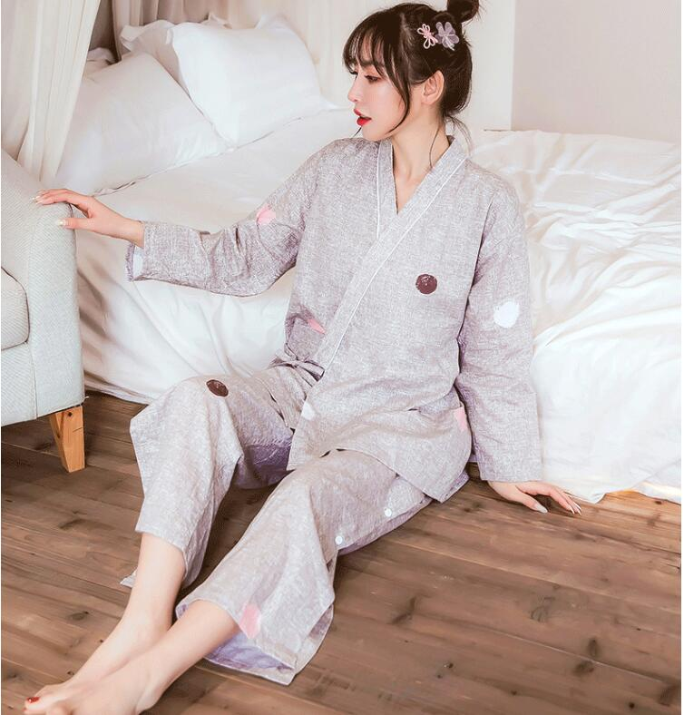 Moxibustion physiotherapy beauty clothing long sleeve pants chest opening  leg opening with button 100% cotton high quality
