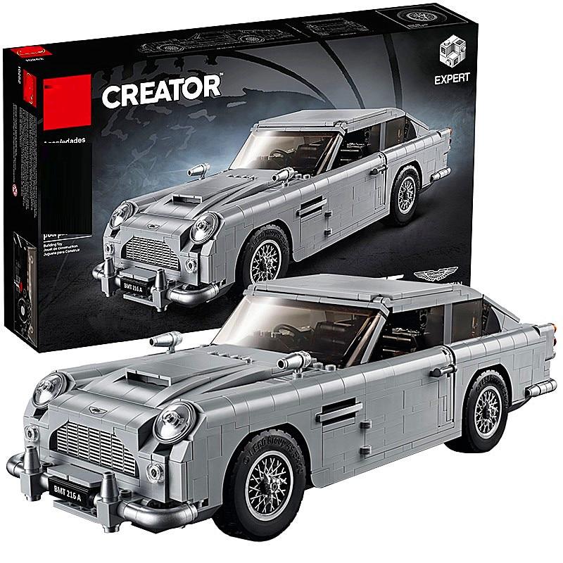 Technic Series 10262 Aston Martin DB5 Set Building Blocks Bricks Children Car Model Gifts Toys Compatible With Lepining