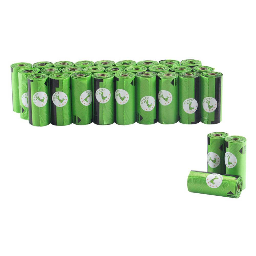 Dog Poop Bags 450 Counts 30 Rolls 10 Micron Large Cat Waste Bags Doggie Bag Green Black Pink Color Garbage Bags