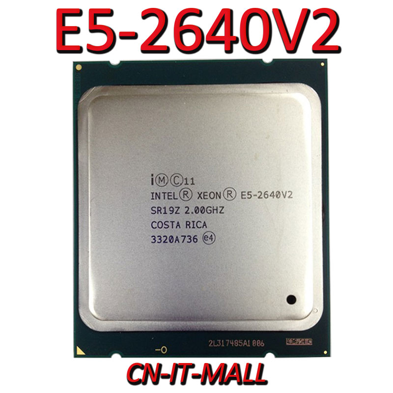Intel <font><b>Xeon</b></font> <font><b>E5</b></font>-2640V2 CPU 2.0GHz 20MB Cache 8 Cores 16 Threads LGA2011 Processor image