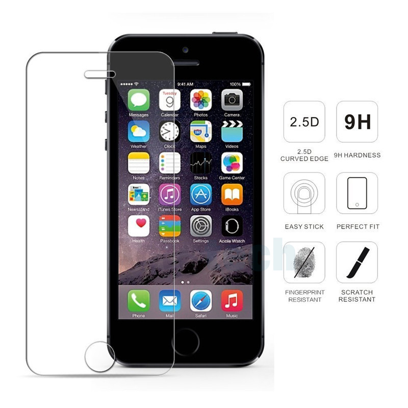 Tempered Glass for iPhone 5 S 6 S 7 8 Plus X XR XS max Protection Glass Screen Protector for iPhone XS max Protection Glass Film 4