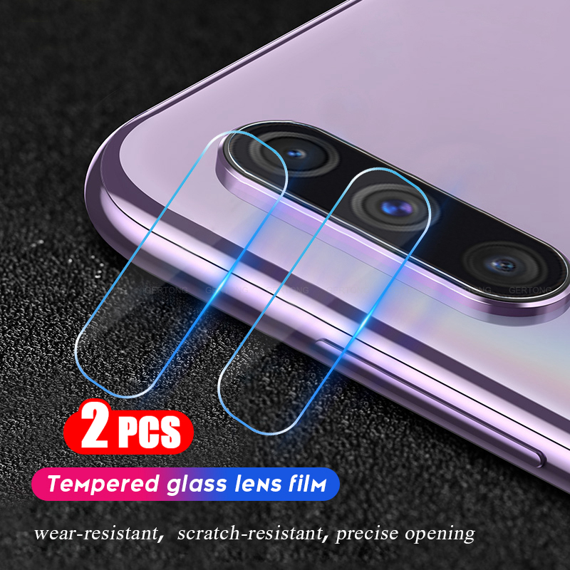 2PC HD <font><b>Camera</b></font> Lens Protective Protector For <font><b>Samsung</b></font> Galaxy A70 A50 A30 A20 9D Tempered <font><b>Glass</b></font> Film on the for <font><b>Samsung</b></font> A70 A705F image