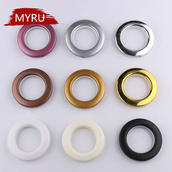 20/40/80PCS/ LOT High Quality Home Decoration Curtain Accessories Nine Colors Plastic Rings Eyelets for Curtains Grommet Top