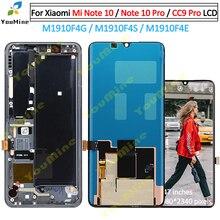 Dla Xiaomi MI uwaga 10 MI uwaga 10 wyświetlacz LCD ekran dotykowy Digitizer M1910F4G wymiana zespołu dla Xiaomi mi uwaga 10 pro cc9 pro lcd