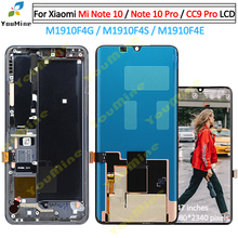 For Xiaomi MI Note 10 mi note10 LCD Display Touch Screen Digitizer M1910F4G Assembly ReplaceFor Xiaomi mi note10 pro cc9 pro lcd