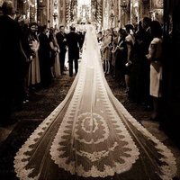 Luxury Lace Wedding Veil 500cm Cathedral Length 2T Bridal Veils Bride Wedding Accessories