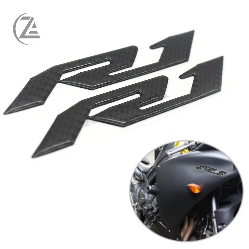 ACZ Motorcycle 3D Decals For <font><b>Yamaha</b></font> YZF-<font><b>R1</b></font> YZFR1 Emblem Badge Decal Fuel Gas Tank Fairing Kit Side Logo