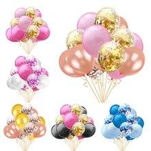 15Pcs Baby Shower Confetti Balloons Happy Birthday Decoration Wedding Latex Anniversary  Party Supplies