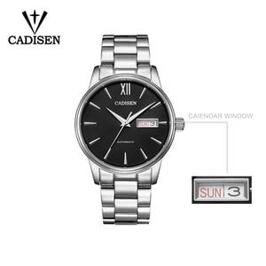 Image 4 - CADISEN 2020 רשמי מקורי יוקרה מותג גברים של אוטומטי מכאני שעון 5ATM ספורט שעון עמיד למים לוח שנה גברי