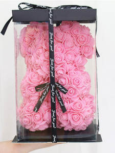 Rose-Bear Teddy Wife Girlfriend Mother's-Day-Gift Pe Flower Artificial Valentine's-Day